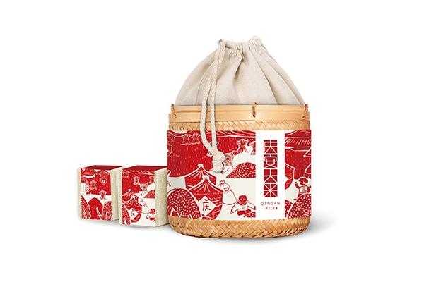 帆布袋大米包装